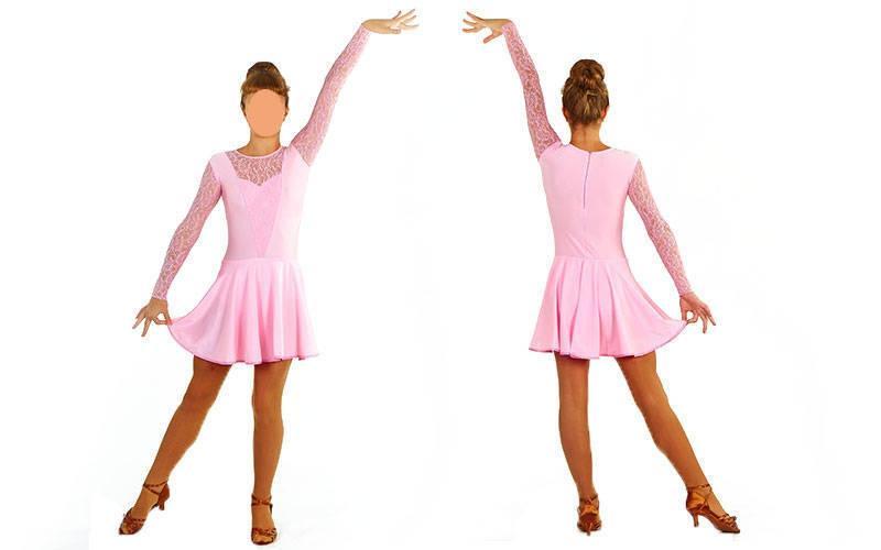 Платье Рейтинговое (бейсик) с гипюром UR DR-1642-LP