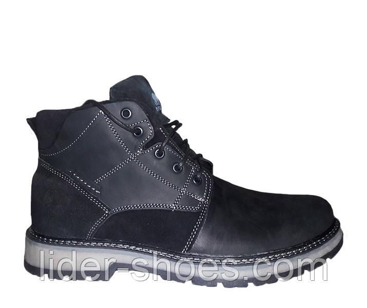 Мужские ботинки кожаные на меху