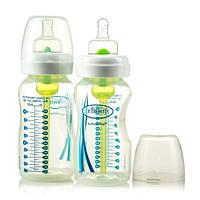 Бутылочка для кормления Dr. Brown's Natural Flow с широким горлом, 270 мл 2 шт./уп. с соской 1 ур.