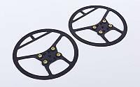 Ледоступы круглые (антискользящие накладки на обувь) UR OB-6500 (р-р универсал.от 36-45, 4 мет.шипа)