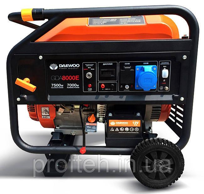 Купить Бензиновый генератор Daewoo GDA-8000Е (7.5 кВт, электростартер)