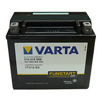 Аккумулятор для мотоциклов и скутеров  YTX12-4 \YTX12-BS 152x88x131  VARTA