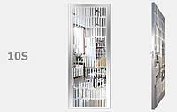Двери межкомнатные с зеркалом пескоструй Серебро S10-19, фото 1