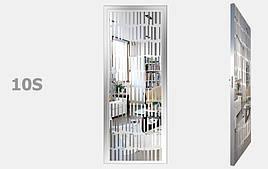 Двери межкомнатные с зеркалом пескоструй Серебро S10-19