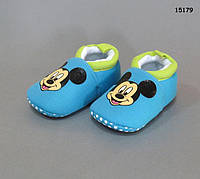 Пинетки-тапочки Mickey Mouse для мальчика. 11.5; 12.5 см