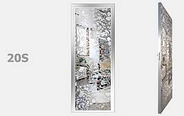 Двери межкомнатные зеркало Серебро S20