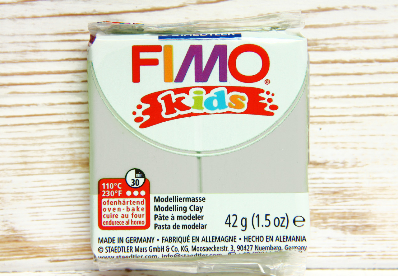 Фимо Кидс полимерная глина Fimo Kids №80, светлый серый, Германия.