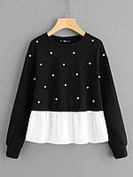 Пуловер с жемчугом. Большой выбор на https://saxo.com.ua ( код VIP-000003)