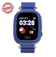 Часы с GPS для детей Q100-Vibro синие. Оригинал