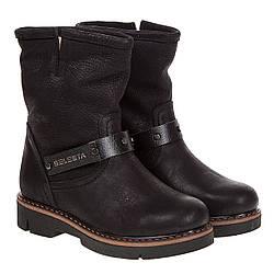 Ботинки женские Attico (черные, стильные, удобные, теплые)