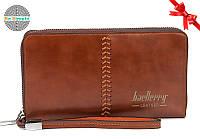 Клатч портмоне Baellerry Leather (Лизер) Коричневый