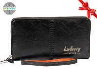 Клатч портмоне Baellerry Leather (Лизер) Черный