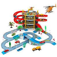 """Гараж """"Мега Парковка"""", 4 этажа, машинка 2шт, вертолет, дерево, дор. Игрушка"""