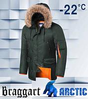 Braggart 4576 | Парка мужская зимняя хаки, фото 1