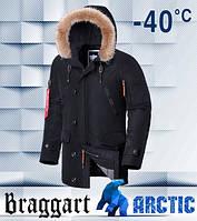Braggart 1673   Парка зимняя мужская черная, фото 1