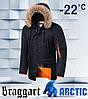 Braggart 4137 | Мужская зимняя парка черная