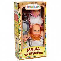 """Кукольный театр """"Маша и Медведь"""" в коробке 4 персонажа   ЧудиСам"""