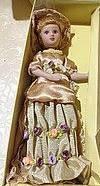 Кукла фарфоровая подарочная коллекционная 20см.
