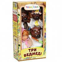 """Кукольный театр """"Три медведя"""" в коробке 4 персонажа   ЧудиСам"""