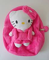 Рюкзак детский, Hello Kitty,  с семной игрушкой стильный модный яркий надежный, качественный, прочный