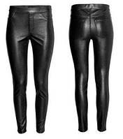Женские леггенсы, штаны с кожзама H&M в наличии M , фото 1