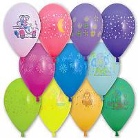 """Воздушные шарики """"Ассорти с рисунком 14""""  100 шт."""