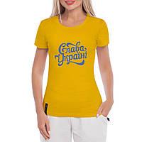 Женская футболка с принтом Слава Украине, фото 1