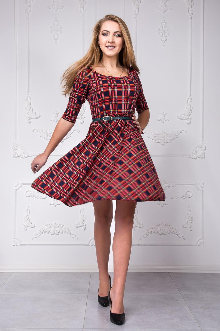 e02dd72356e Женское платье в клетку 116 - Интернет-магазин одежды
