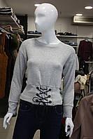 Свитшот женский серый Busem