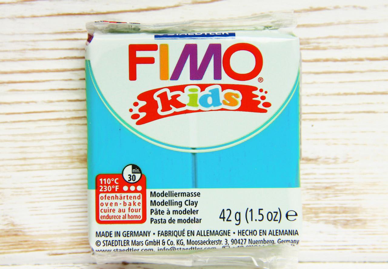 Фимо Кидс полимерная глина Fimo Kids №39, небесный голубой, Германия.