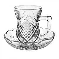 Сервиз кофейный стекло 12пр/набор 80мл