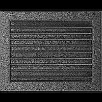 Решітка вентиляційна Чорне срібло (фарбована) 22*30 жалюзі
