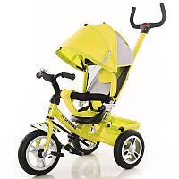 "Велосипед 3-х колёсный ""Tilly Trike"" желтый с крышей"