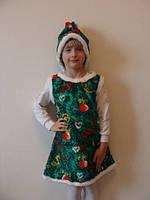 Детский костюм елочки из меха, рост 116-134 см., 315 гр.