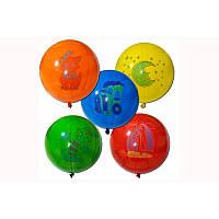 """Воздушные шарики """"Панч-бол ассорти с рисунком  18""""  100 шт."""
