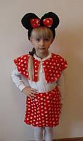 """Красивый костюм """"Микки-маус"""": ушки, накидка, юбка, рост 116-134 см., 315 гр."""