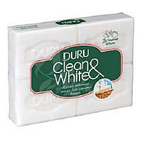 DURU мыло хозяйственное CLEAN&WHITE 4×125 г.