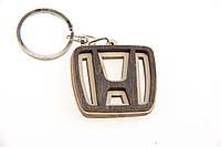 Брелок для ключей деревянный с резным логотипом Honda (Хонда)