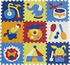 """Детский коврик-пазл Baby Great """"Удивительный цирк"""" 92х92 см"""