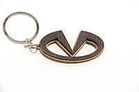 Брелок для ключей деревянный с резным логотипом Infinity (Инфинити)