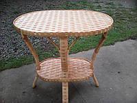 Плетые столы из лозы