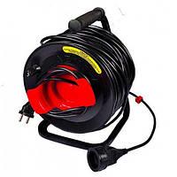 Удлинитель на катушке без теплозащиты MasterTool 2x1,5 кв.мм, 50 м (94-0026)