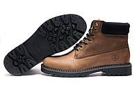 Ботинки зимние мужские Timberland, коричневые, натуральная кожа, р.43 44 45
