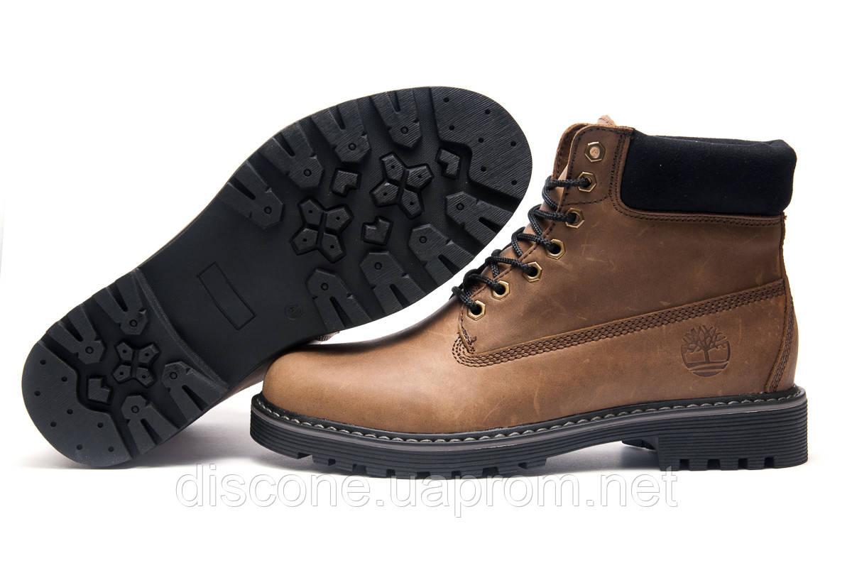 Ботинки зимние мужские Timberland, коричневые, натуральная кожа, р. 43 44 45
