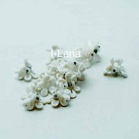 Крабик Цветок белый (2см)