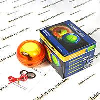 Кистьовий тренажер Wrist Ball (Powerball) гіроскоп (Gyro) помаранчевий