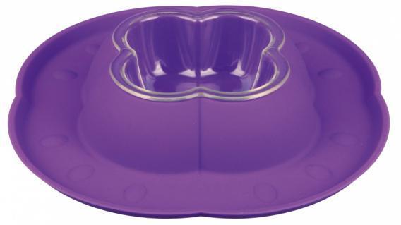 Trixiе (Трикси) BOWL SET - пластиковая миска с силиконовым поддоном для животных, 0.2л/ø23см