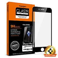 Защитное, закаленное стекло с рамкой черного цвета, Spigen GLAS.tR SLIM для iPhone 7 Plus (043GL20470/X0014P34I1)