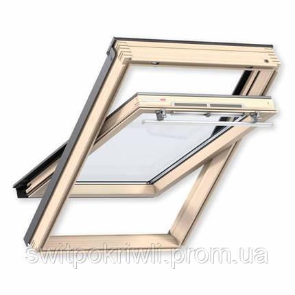 Мансардное окно VELUX PREMIUM Стандарт GLL 1061 – ручка сверху, фото 2