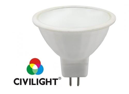 Світлодіодна лампочка MR16 WF16P6 CRI80 3000К 12 вольт 6W CIVILIGHT 5313